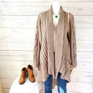 Anthropologie Sparrow soft cable knit cardigan
